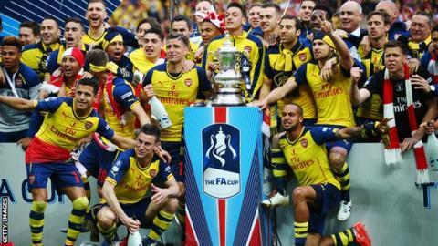 Arsenal won the FA Cup in 2014 and 2015