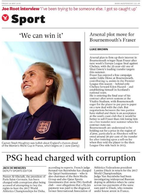 Independent sports page