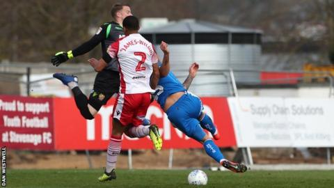 Kane Hemmings had to go in where it hurts to net Notts' second goal - his 12th of the season