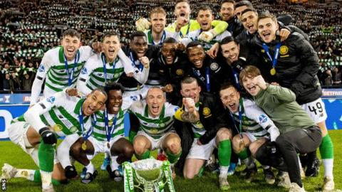 Celtic's League Cup success in December was their 10th consecutive trophy in domestic football