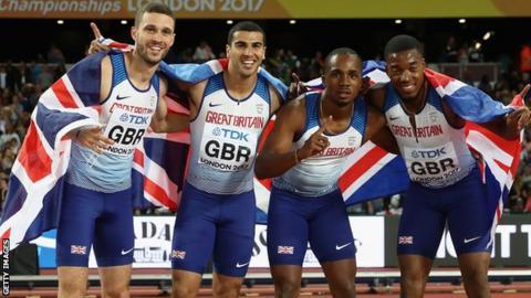 Britain's men's 4x100m relay team