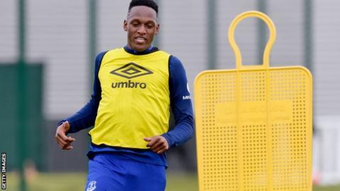 Yerry Mina in training