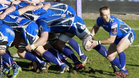 Sarel Pretorius moves the ball from the base of a scrum for Newport Gwent Dragons against Brive