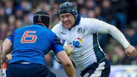 WP Nel in action for Scotland
