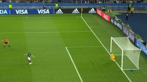 VAR ruled a penalty had to be retaken after deeming Scotland keeper Lee Alexander was off her line