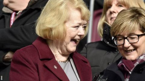 Hearts owner Anne Budge before their recent home game against Partick Thistle