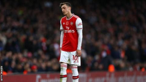 Arsenal distances itself from Ozil comments on Uighurs' treatment