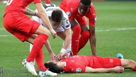 Fabian Schar knocked unconscious: Uefa needs to investigate - brain charity Headway