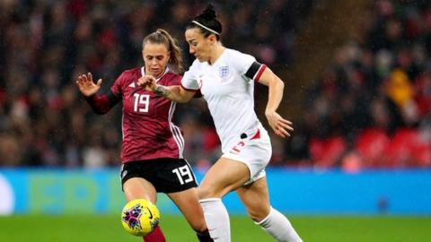 Lucy Bronze England v Germany friendly 2019