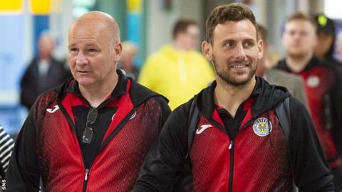 St Mirren technical director Gus MacPherson and Tony Andreu