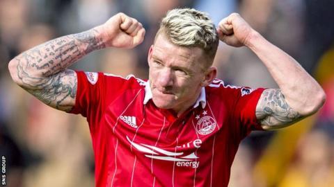 Aberdeen midfielder Jonny Hayes
