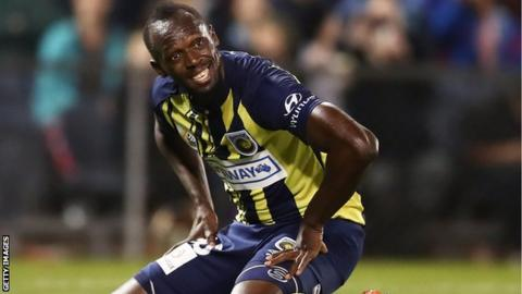 Usain Bolt on trial at Australian side Central Coast Mariners