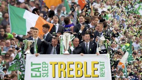 Brendan Rodgers steered Celtic to seven successive domestic trophies before his abrupt departure