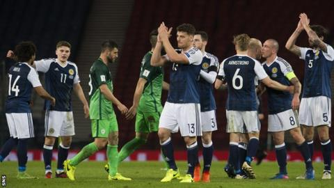 There was lots to smile about for the Scots at full time after Martin's winning goal
