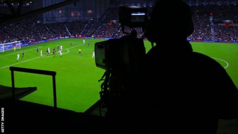 Generic view of a TV camera at football match