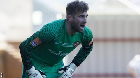 Dundee United goalkeeper Cammy Bell