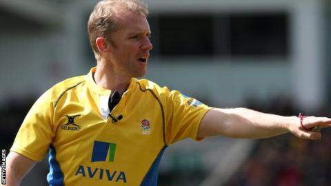 Rugby referee Wayne Barnes