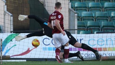 Sam Hoskins had given Northampton the lead from close range