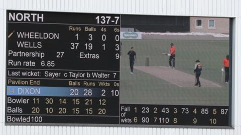 Scoreboard at the Hundred trial