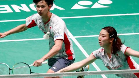 Watanabe and Higashino mixed doubles