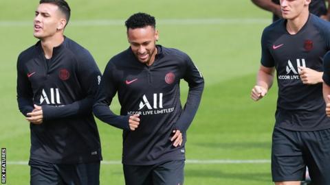 Neymar (second left)