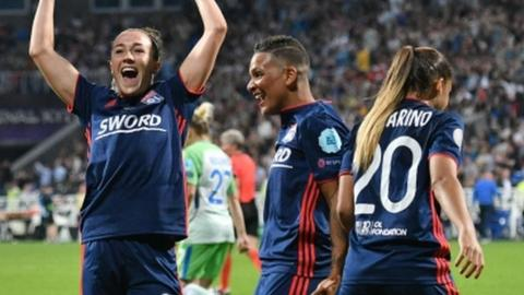 England's Lucy Bronze won her first Champions League title after joining Lyon last summer