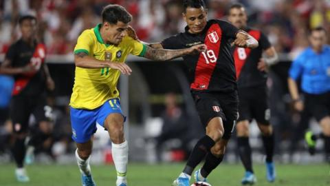 Brazil v Peru in Los Angeles