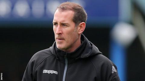 Gary Haveron previously managed Carrick Rangers in the Irish Premiership