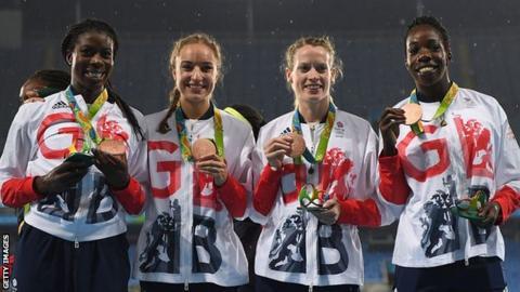 Team GB's 4x400m bronze medallists at Rio 2016