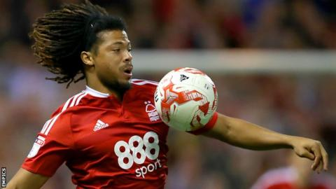 Hildeberto Pereira in action during his time at Nottingham Forest