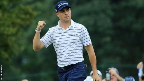 Thomas overcomes wobble to seal BMW Championship