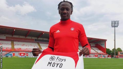 David Moyo will wear the number 20 shirt for Hamilton