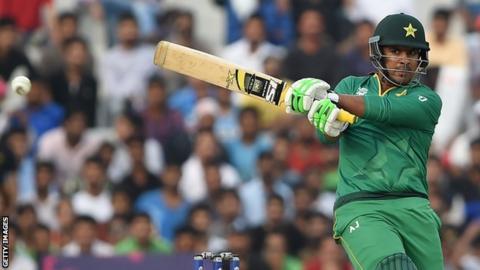 Sharjeel Khan playing for Pakistan against Australia in 2016