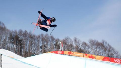 Rowan Cheshire skiing at Pyeongchang Winter Olympics