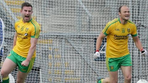 Paddy McBrearty was set up for his early goal by Colm McFadden