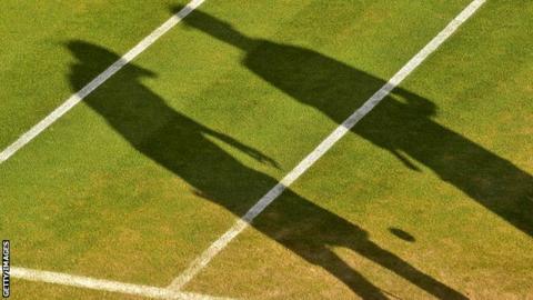 Tennis silhouette