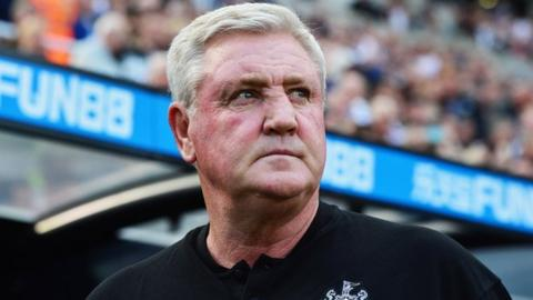 Newcastle head coach Steve Bruce