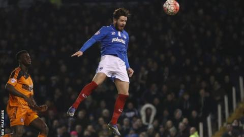 Portsmouth striker Marc McNulty
