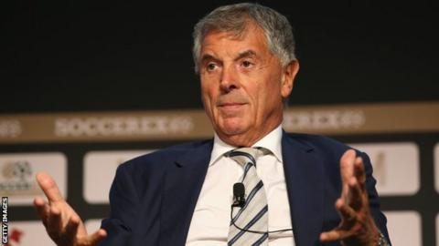 Former Arsenal vice-chairman David Dein speaks at a conference