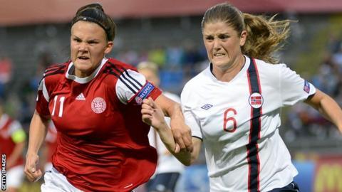 Maren Mjelde (right)