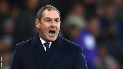 Paul Clement urges on his players against West Brom on 9 December