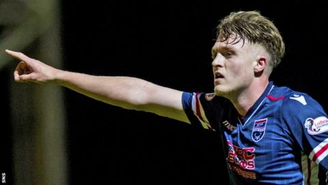Stoke City defender Harry Souttar in action for Ross County