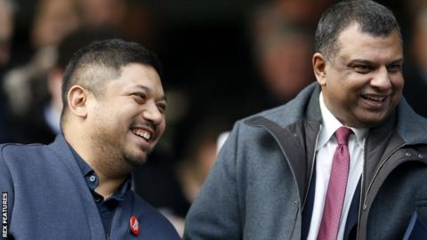 Ruben Gnanalingam and Tony Fernandes