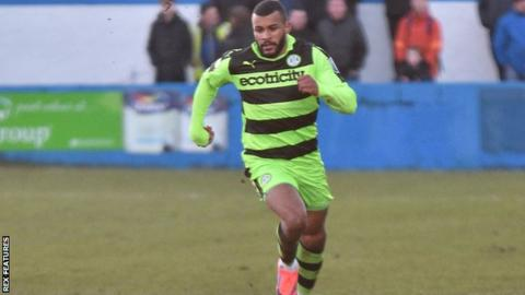 Dan Wishart in action for Forest Green