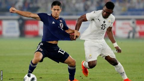 Ghana spoils Nishino's debut, beating Japan 2-0 in friendly