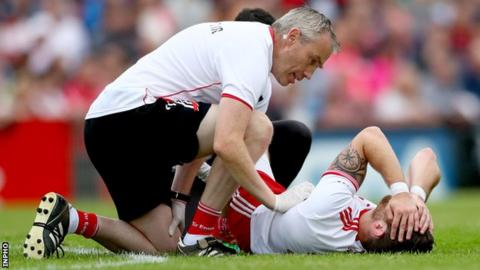 "Mickey Harte says Ronan McNamee has been ""a rock"" for Tyrone at full-back this season"