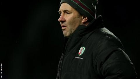 London Irish head coach Tom Coventry