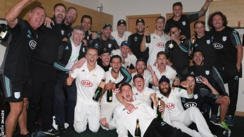 Surrey celebrate