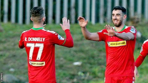 Cliftonville's Rory Donnelly and Joe Gormley have combined to score 16 goals in the the club's last ten matches.