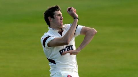 Somerset fast bowler Craig Overton
